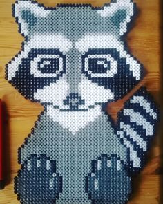 Raccoon perler beads by klaus0763