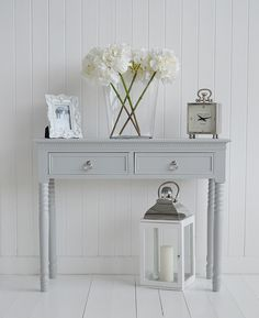 Bridgeport small French grey console table with drawer A range of