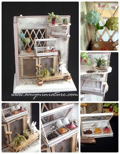Miniature Plants, Miniature Rooms, Miniature Fairy Gardens, Miniature Furniture, Dollhouse Furniture, Mini Doll House, Barbie Accessories, Mini Things, Miniture Things