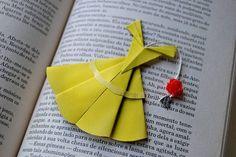 Disney origami bookmark Paper
