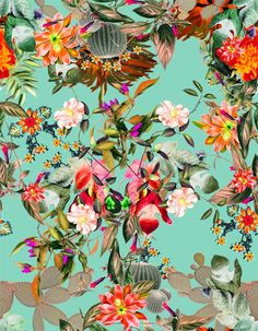 Discover and share the most beautiful images from around the world Motifs Textiles, Textile Patterns, Print Patterns, Textile Design, Graphic Design Illustration, Illustration Art, Illustrations Vintage, Tropical Art, Tropical Colors