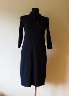Kup mój przedmiot na #vintedpl http://www.vinted.pl/damska-odziez/krotkie-sukienki/14676415-hoss-czarna-dzianinowa-sukienka-midi-38-40