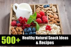 500+ Healthy Natural Snack Ideas & Recipes! These healthy natural snacks aren't packed full of nasty preservatives or overloaded with salt and sugar, so you can enjoy a tasty snack without having to worry! #healthysnackideas #naturalsnackrecipes #healthylifestyle