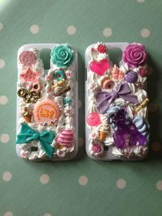 Hello Kitty & My Little Pony Decoden Phone Case www.mykawaiicase.co.uk email hello@mykawaiicase.co.uk