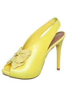 Sandália Laços Amarela