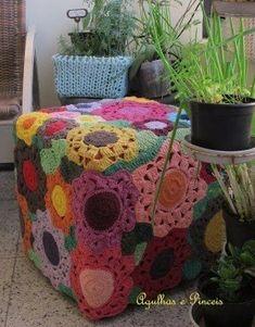 Floor pouf crochet pattern