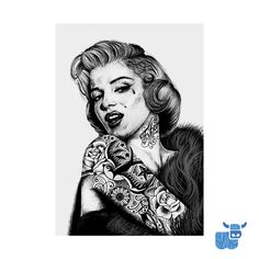 When I was a little girl I was always fascinated with Marilyn Monroe. Back then it was because she was glamorous and pretty but as I got older and learned more about her, I admired the fact that she overcame so much adversity in her life and was entirely driven to become successful. I loved this modern day Marilyn from the amazing @inkedikons as soon as I saw it 💙🐮.