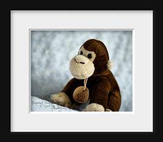 Childrens Playroom Wall Art Monkey by CrystalGaylePhoto on Etsy, $30.00