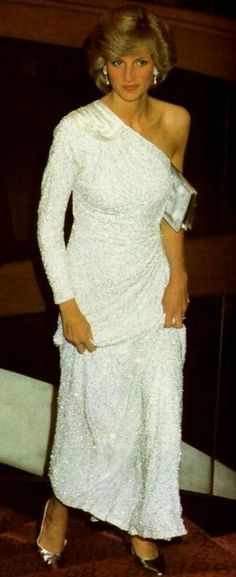 Princess Diana 1983 at the James Bond Premiere in London