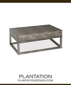 Matson Zinc Coffee Table 19 X 48L X 27W  $2595  www.plantationdesign.com