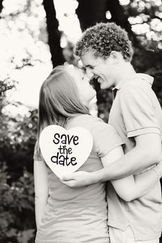 save the date engagement wedding photo prop photo by katie rivers