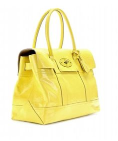 Mulberry Bayswater in yellow gloss