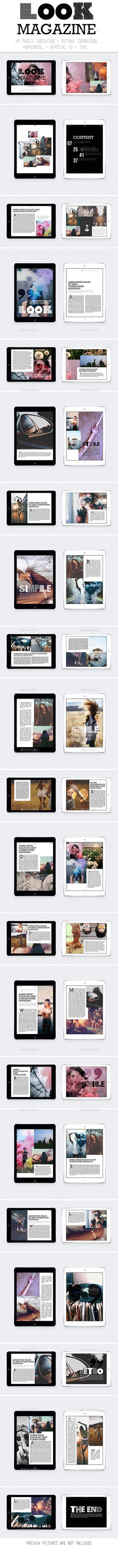 Ipad & Tablet Look Magazine Template InDesign INDD