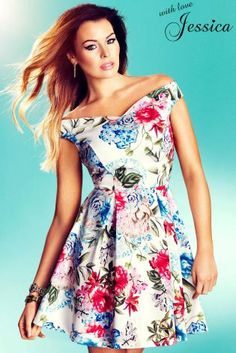 Buy Jessica Wright Foral Bardot Skater Dress from the Next UK online shop