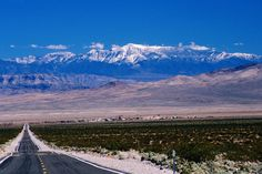 Spring Mountains, California  Death Valley Junction from CA 130, Spring Mountains (Nevada) in background.