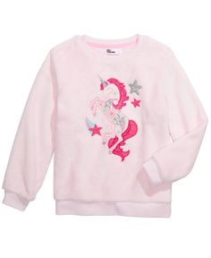Epic Threads Little Girls Unicorn Sweatshirt, Created For Macy's - Ballerina Pink Cute Little Girls Outfits, I Love Girls, Toddler Outfits, Kids Fashion, Fashion Clothes, Cool Kids, Toddler Stuff, Toddler Girls, Graphic Sweatshirt