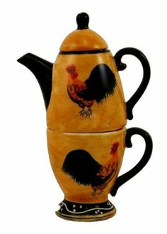 ROOSTER TEAPOT W/TEA CUP, TEA FOR ONE, TEA POT : Amazon.com : Home & Kitchen