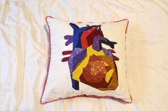 Quilted Anatomy pillow medical illustration by EverydaySci