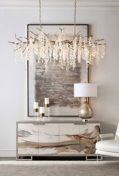 Looking for an idea to change the decoration of your living room? It will beautify your home at a lower cost. Design Living Room, Living Room Decor, Design Room, Foyer Design, Entrance Design, Glass Chandelier, Modern Chandelier, Hallway Chandelier, Crystal Pendant Lighting