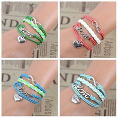 Hot Bridesmaid Gift Charm Infinity Love Infinity Sister beads Handmade Bracelet  #Handmade #Beaded