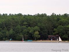 Camp Medicine Bow Waterfront as viewed from Armstrong Point on the Yellow Trail at #Yawgoog.  A 2014 image by David R. Brierley.