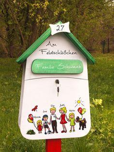 Briefkästen - Briefkasten Design, Briefkasten individuell bemalt - ein Designerstück von Vogelliebe-Shop bei DaWanda