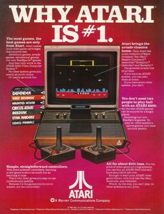 My first computer was an Atari, though a bit more modern than this one. It was #1 for musos with its Cubase program in 1990. Vintage Atari Ad via || it8bit