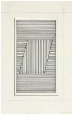 Sol LeWitt Parallelogram signed and dated 'Lewitt (lower right) graphite and ink on paper, Drawn in - John Weber Gallery, New York Action Painting, Painting & Drawing, Modern Art, Contemporary Art, Generative Art, Conceptual Art, Art Plastique, Geometric Art, Op Art