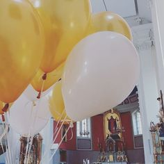 He is watching us from a distance. All in gold and white today. Wedding Church, Autumn Wedding, Handmade Wedding Decorations, Save The Date Invitations, Distance, Wedding Planner, Balloons, Bride, Creative