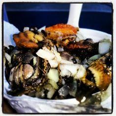 ceviche de concha negra (black clam ceviche)