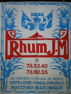Rhum sign from Martinique