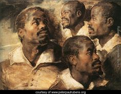 Rubens - Four Studies of the Head of a Negro