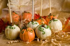 Pumpkin Cake Balls for tabletop favors