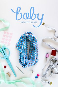 Baby Couture DIY Free Sewing Pattern How to La mode Patron de couture gratuit SewinG Sewing For Kids, Baby Sewing, Diy For Kids, Free Sewing, Easy Baby Blanket, Baby Scarf, Baby Infinity Scarves, Infinity Rings, Bebe Love