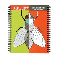 Mudpuppy Amazing Insects Double Draw: Draw the mirror image! Mudpuppy's emAmazing Insects/em is a book of split images illustrated by Jon Cannell. It's up to YOU to draw, color, mix and match to create your own insect world. Stick And Poke, Book Binding, Wire Binding, Book Summaries, Mirror Image, Book Recommendations, Amazing, Drawings, Books