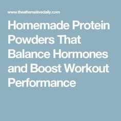 Homemade Protein Pow