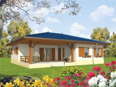 country homes for parents – House Design Modern Bungalow House, Bungalow House Plans, House Outside Design, House Front Design, Village House Design, Village Houses, My House Plans, Small House Plans, Dream Home Design