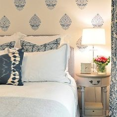 How to Fake the Look of Wallpaper: Classic Casual Home blogger Mary Ann Pickett had her heart set on  Schumacher