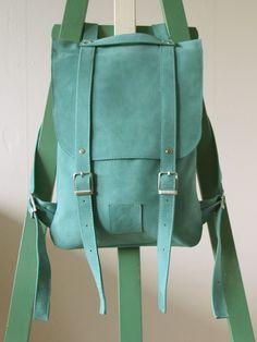 Leather back pack rucksack handmade by Kokosina by kokosina