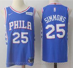c7b8f8efe329c Camisetas nba baratas nike azul  25 Ben Simmons Philadelphia 76ers