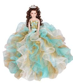 "24"" Quinceanera Doll #QD10145 This a super glamourous doll that you will feel proud to have at your #quinceañera party! #quinceaneradoll"
