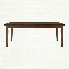 """Luciano 80"""" Rectangle Dining Table In Burnished Brown 