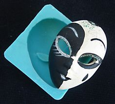 Silicone Mould VENETIAN MASK Sugarcraft Cake by StaceyDecor