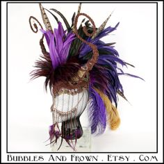 Opulent Dragoness Honed Feather Mohawk in by BubblesAndFrown, $296.66