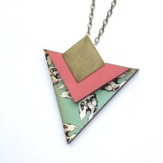 Skull Patterned Triangle Geometric Necklace Laser Cut by MicaPeet Etsy Christmas, Xmas, Felt Hair Clips, Geometric Necklace, Sheep Wool, Laser Cutting, Hand Stitching, Wool Felt, Triangle