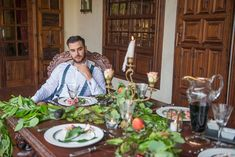 """Mesa inspirada en la época victoriana para """"Rien de plus""""  #editorial #mesa #boda #banquete #inspiración #elopement #Tenerife Tenerife, Editorial, Fashion, Banquet, Victorian, Mesas, Wedding, Moda, Fashion Styles"""