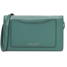 Marc Jacobs Recruit Cross Body Wallet (17,325 INR) ❤ liked on Polyvore featuring bags, wallets, leather crossbody wallet, leather crossbody, bifold wallet, bi-fold wallets and leather credit card holder wallet