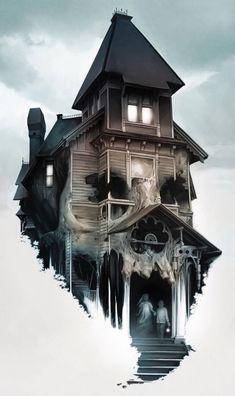Arte Horror, Horror Art, Dark Fantasy, Fantasy Art, Totenkopf Tattoos, Bild Tattoos, Grunge Art, Arte Obscura, Macabre Art