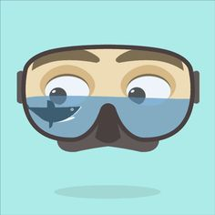 Cantina Animation on Behance, #animated gif, #diving, #shark, #summer, #niccolo cellini