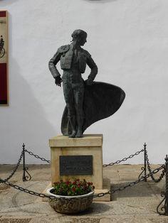 Statue of matador in Ronda